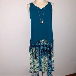 BOGO Teal Fringe Maxi Skirt Outfit